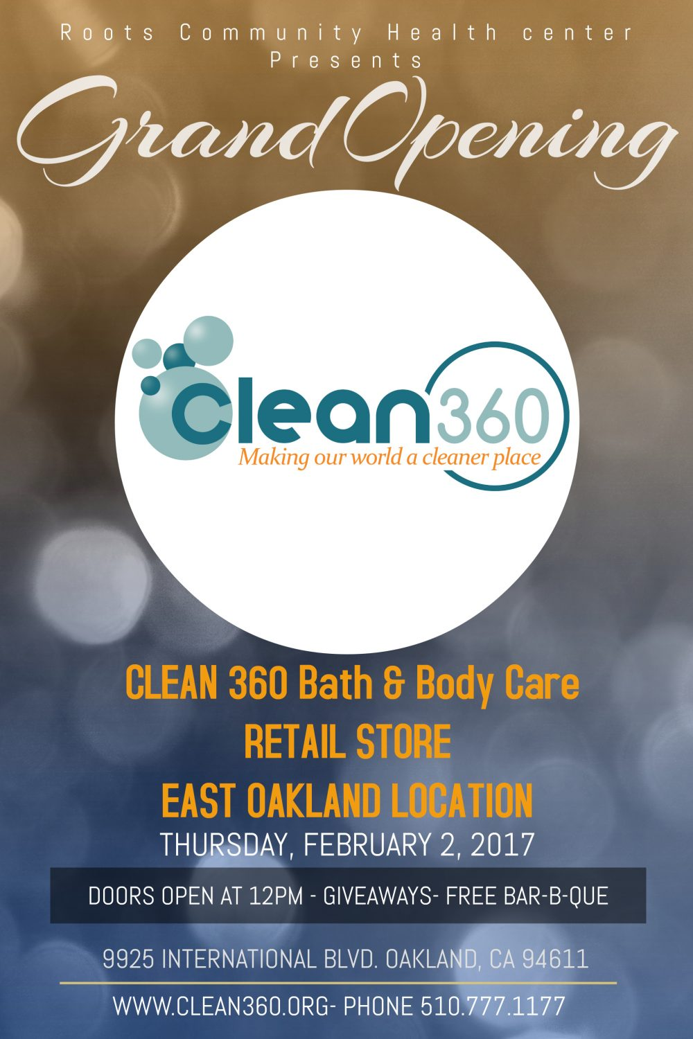 2fee3261079f39 Clean 360 Opens Bath and Body Care Store In East Oakland