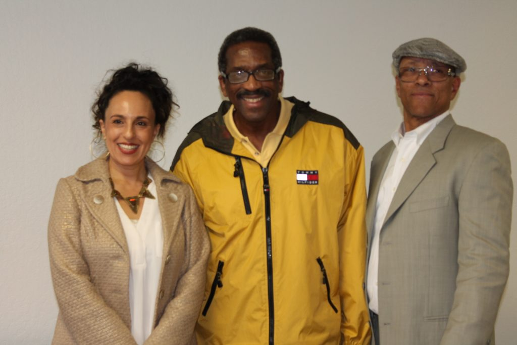 Alameda County Supervisor Nate Miley (Ctr.), Dr. Noha Aboelata, MD, (Lt.), CEO &  Aquil Naji, COO (Rt.)